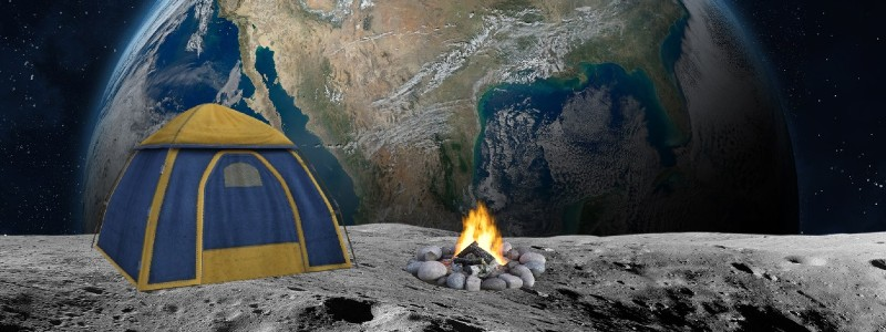 Tent on the Moon